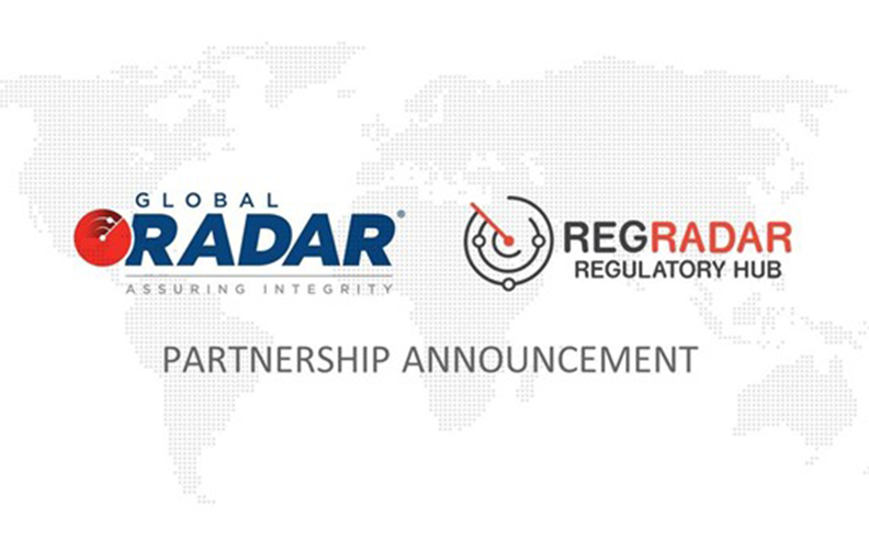 Regradar partners with global radar to further increase the value proposition of the companies to their clients.